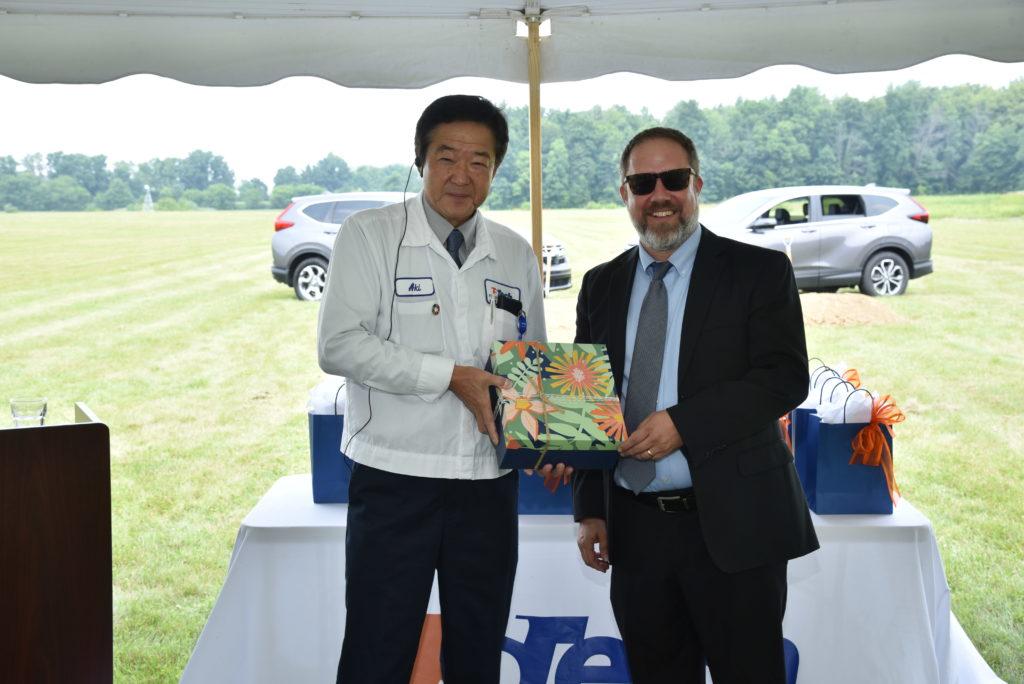 Akihiko Hayashi, TS Tech Americas President and Corey Murphy, EDC President