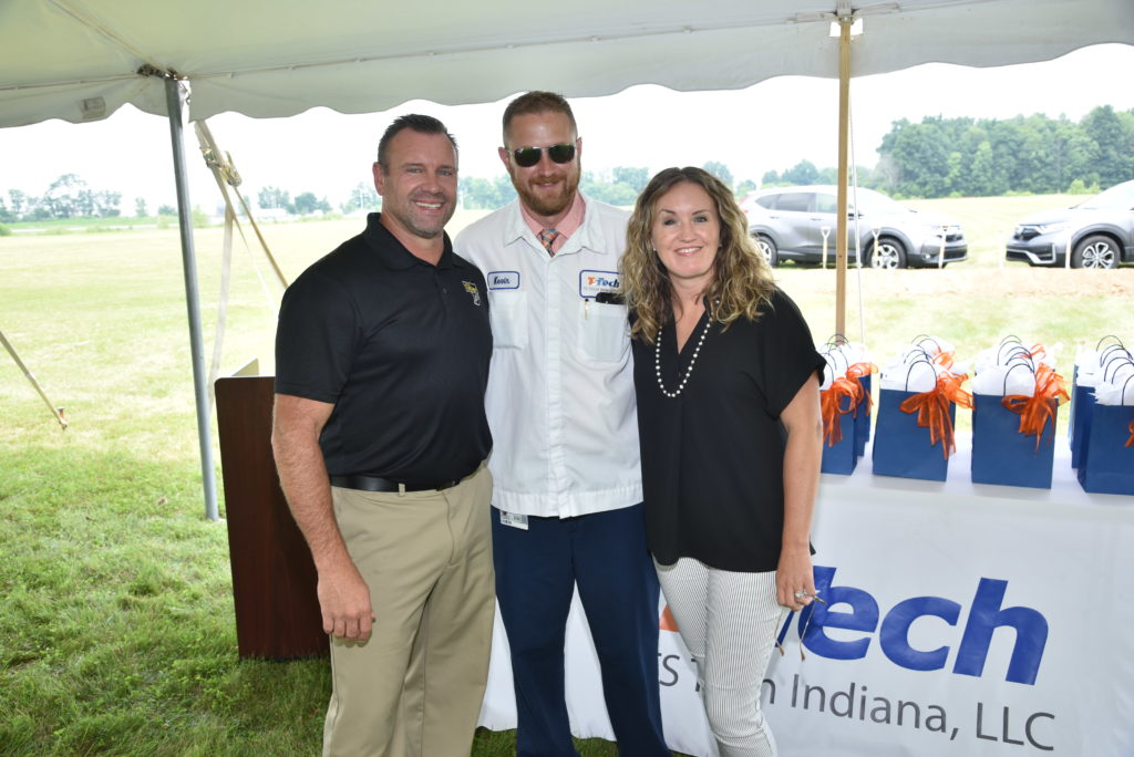 Kevin Barnett, TS Tech Indiana, Information Systems Manager (center) shown with Matt and Cara Huffman, F.C Tucker Realty