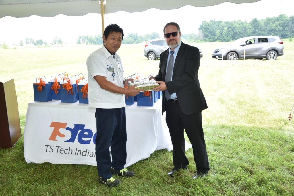 Minoru Uda, TS Tech Indiana President with Corey Murphy, EDC President